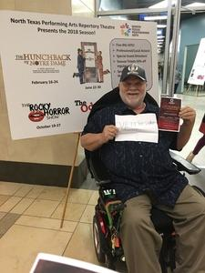 edward attended NTPA Repertory Theatre Presents: Disney's Hunchback of Notre Dame - Sunday on Feb 18th 2018 via VetTix