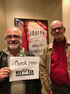 Kenneth attended Joseph and the Amazing Technicolor Dreamcoat on Feb 14th 2018 via VetTix