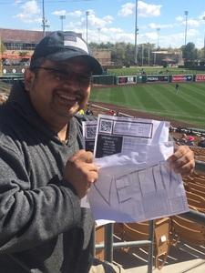 Anthony attended Chicago White Sox vs. Texas Rangers - MLB Spring Training on Feb 28th 2018 via VetTix