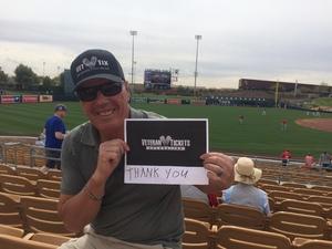 Richard and Toni attended Chicago White Sox vs. Cincinnati Reds - MLB Spring Training on Mar 7th 2018 via VetTix