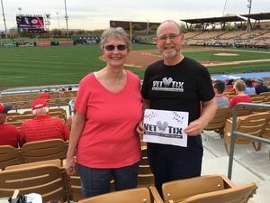 Richard attended Chicago White Sox vs. Cincinnati Reds - MLB Spring Training on Mar 7th 2018 via VetTix