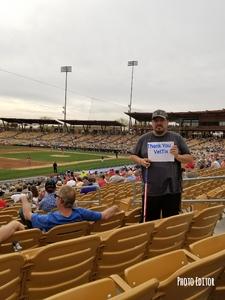 Ralph attended Chicago White Sox vs. Cincinnati Reds - MLB Spring Training on Mar 7th 2018 via VetTix