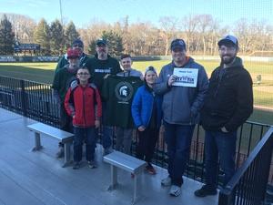 Andrew attended Michigan State Spartans vs. Rutgers - NCAA Men's Baseball on Mar 30th 2018 via VetTix