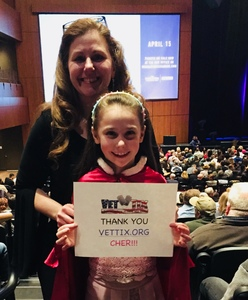 DLB attended Cher Live at the MGM National Harbor Theater on Feb 18th 2018 via VetTix
