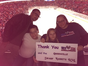 Jandy attended Greenville Swamp Rabbits vs. Orlando Solar Bears - Heroes Night - ECHL on Mar 10th 2018 via VetTix