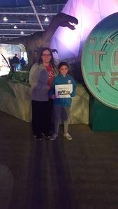 Brandy attended Discover the Dinosaurs - Time Trek - Presented by Vstar Entertainment on Mar 31st 2018 via VetTix
