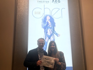 Judy attended Cher Live at the MGM National Harbor Theater on Feb 22nd 2018 via VetTix