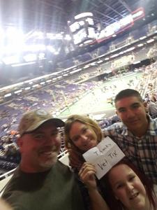James attended Arizona Rattlers vs. Sioux Falls Storm - IFL on Feb 25th 2018 via VetTix