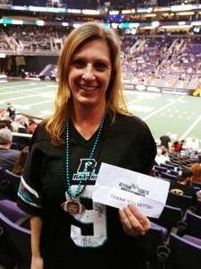 Madaya attended Arizona Rattlers vs. Sioux Falls Storm - IFL on Feb 25th 2018 via VetTix
