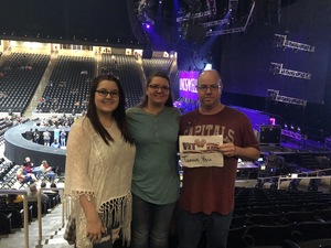 John attended Brad Paisley - Weekend Warrior World Tour With Dustin Lynch, Chase Bryant and Lindsay Ell on Feb 22nd 2018 via VetTix