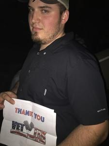 Tyler attended Brad Paisley - Weekend Warrior World Tour With Dustin Lynch, Chase Bryant and Lindsay Ell on Feb 22nd 2018 via VetTix