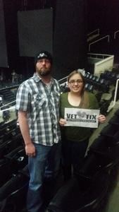 casey attended Brad Paisley - Weekend Warrior World Tour With Dustin Lynch, Chase Bryant and Lindsay Ell on Feb 22nd 2018 via VetTix
