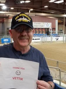 Ernie attended The 65th Annual Parada Del Sol Rodeo - Bull Riding Only on This Night on Mar 8th 2018 via VetTix