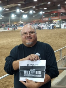 Israel attended The 64th Annual Parada Del Sol Rodeo - PRCA Rodeo on Mar 9th 2018 via VetTix