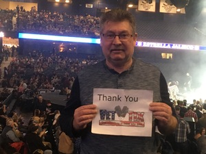 Ron attended Brad Paisley - Weekend Warrior World Tour With Dustin Lynch, Chase Bryant and Lindsay Ell on Feb 24th 2018 via VetTix