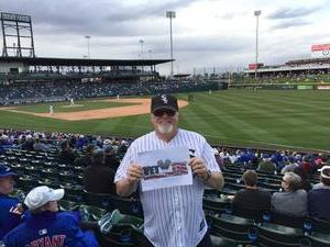 Robert Kroeger attended Chicago Cubs vs. Chicago White Sox - MLB Spring Training on Feb 27th 2018 via VetTix