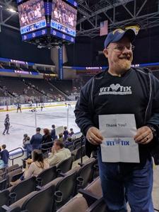 Timothy attended Jacksonville Icemen vs. Reading Royals - ECHL on Mar 2nd 2018 via VetTix