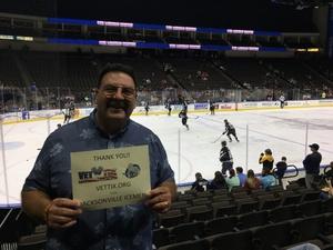 George attended Jacksonville Icemen vs. Reading Royals - ECHL on Mar 2nd 2018 via VetTix