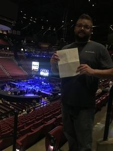 Julian attended Brad Paisley - Weekend Warrior World Tour With Dustin Lynch, Chase Bryant and Lindsay Ell on Mar 9th 2018 via VetTix