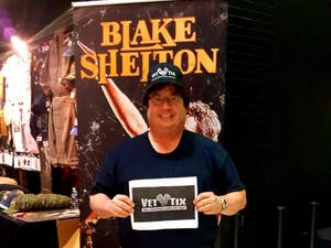 Charles attended Blake Shelton With Brett Eldredge, Carly Pearce and Trace Adkins on Mar 8th 2018 via VetTix