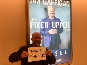 Timothy attended Jim Gaffigan - the Fixer Upper on Mar 4th 2018 via VetTix