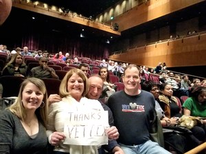 Dean attended Jim Gaffigan - the Fixer Upper on Mar 4th 2018 via VetTix