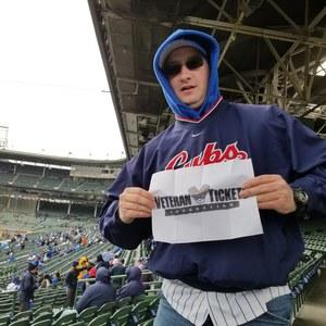 Adam attended Chicago Cubs vs. Atlanta Braves - MLB on Apr 13th 2018 via VetTix