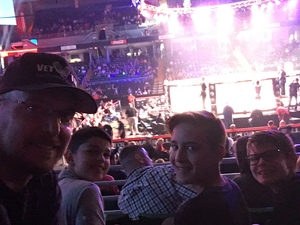 James attended Bellator 197 - Primus vs. Chandler 2 - Mixed Martial Arts - Presented by Bellator MMA on Apr 13th 2018 via VetTix