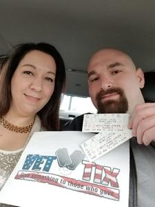 Marine Dan attended Blake Shelton With Brett Eldredge, Carly Pearce and Trace Adkins on Mar 17th 2018 via VetTix