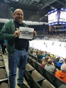 David attended Jacksonville Icemen vs. South Carolina Stingrays on Mar 31st 2018 via VetTix