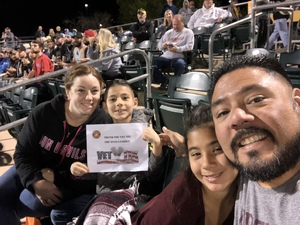 The Anayas attended Oakland Athletics vs. Seattle Mariners - MLB Spring Training on Mar 15th 2018 via VetTix