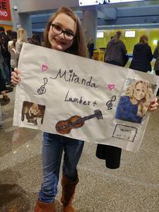 Chris attended Miranda Lambert Livin Like Hippies Tour on Mar 17th 2018 via VetTix