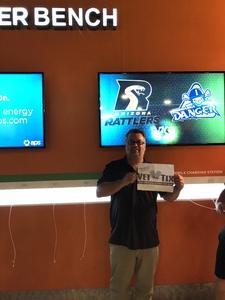 Willis attended Arizona Rattlers vs Nebraska Danger - IFL on Mar 24th 2018 via VetTix