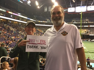 teri attended Arizona Rattlers vs Nebraska Danger - IFL on Mar 24th 2018 via VetTix