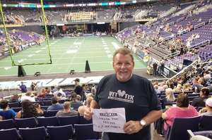 DJ attended Arizona Rattlers vs Nebraska Danger - IFL on Mar 24th 2018 via VetTix