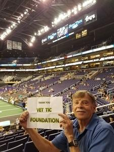 Larry attended Arizona Rattlers vs Nebraska Danger - IFL on Mar 24th 2018 via VetTix