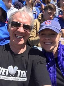 Mark attended Chicago Cubs vs. Milwaukee Brewers- MLB on Apr 29th 2018 via VetTix