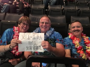 Brian attended Jimmy Buffett Live on Mar 31st 2018 via VetTix
