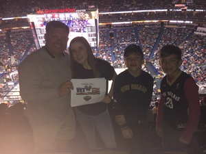 John attended New Orleans Pelicans vs. Los Angeles Lakers - NBA on Mar 22nd 2018 via VetTix
