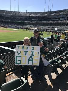 Andrew attended Oakland Athletics vs. Los Angeles Angels - MLB on Mar 29th 2018 via VetTix