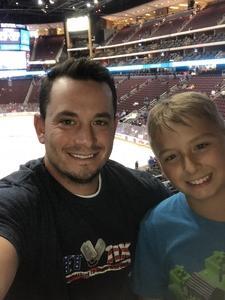 Derriel attended Arizona Coyotes vs. St. Louis Blues - NHL on Mar 31st 2018 via VetTix