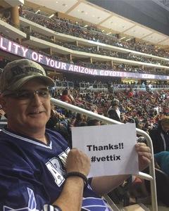 Steven Slater attended Arizona Coyotes vs. St. Louis Blues - NHL on Mar 31st 2018 via VetTix