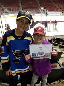 Gary attended Arizona Coyotes vs. St. Louis Blues - NHL on Mar 31st 2018 via VetTix