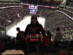 Arnel attended Arizona Coyotes vs. St. Louis Blues - NHL on Mar 31st 2018 via VetTix