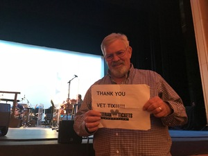 Thomas attended The Great American Songbook With Storm Large on Mar 23rd 2018 via VetTix
