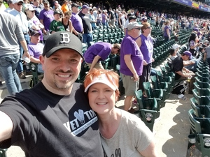 Harry attended Colorado Rockies vs. San Diego Padres - MLB on Apr 11th 2018 via VetTix