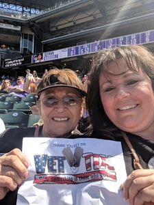 Rose attended Colorado Rockies vs. San Diego Padres - MLB on Apr 11th 2018 via VetTix