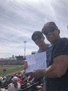 Mark attended Cleveland Indians vs. Cincinnati Reds - MLB Spring Training on Mar 25th 2018 via VetTix