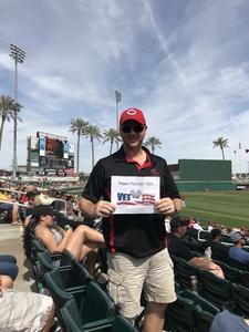 Brian attended Cleveland Indians vs. Cincinnati Reds - MLB Spring Training on Mar 25th 2018 via VetTix