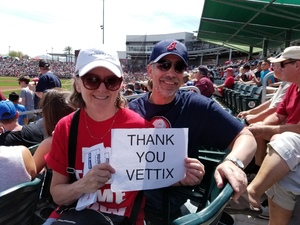 Harvey attended Cleveland Indians vs. Cincinnati Reds - MLB Spring Training on Mar 25th 2018 via VetTix